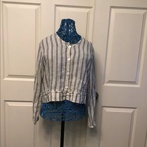 Flax Button Up Top